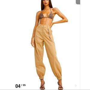 I. AM. G.I.A Famous Khaki Pants with Chain